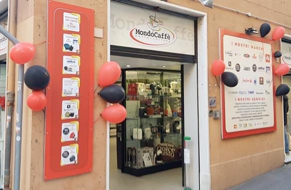 Mondocaffè - Negozio di Genova Sampierdarena Via Giovanetti 86 rosso Genova